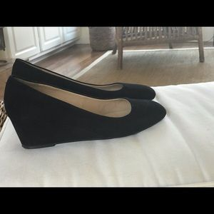 Women's black suede wedges from Talbots size 8M